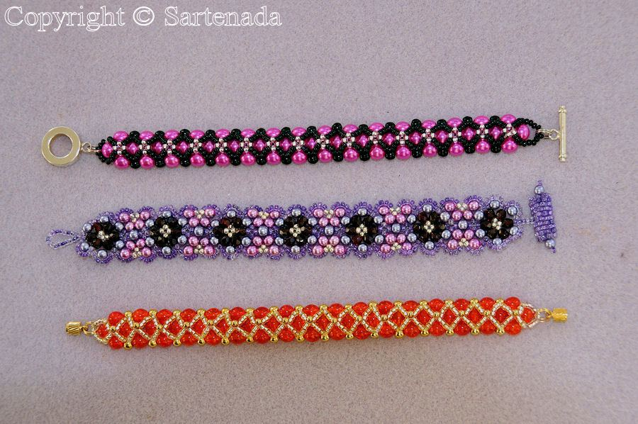 These beaded bracelets are made by my wife. She has nice hobby!