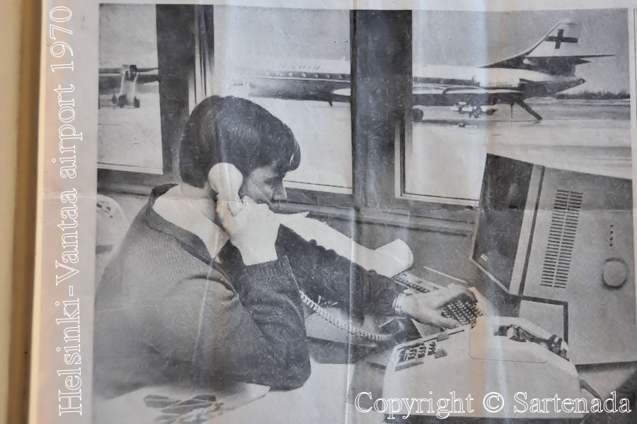 I have been using computers since 1970!!! Here I am checking weight and balance for Super caravelle (at background)