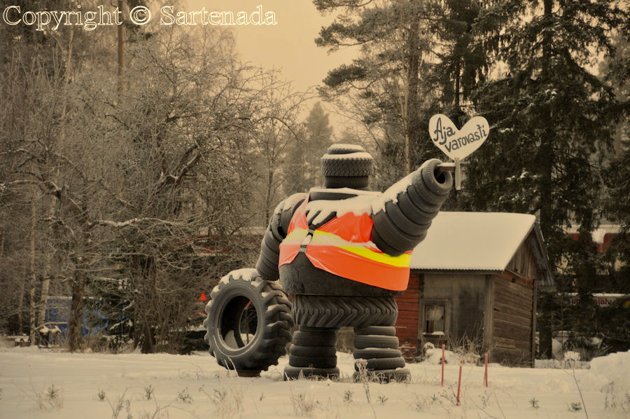 Michelin man says: Drive carefully!