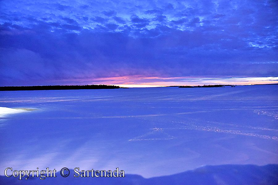 Frozen sea and sky meet in wintry Kemi 2015, Finland