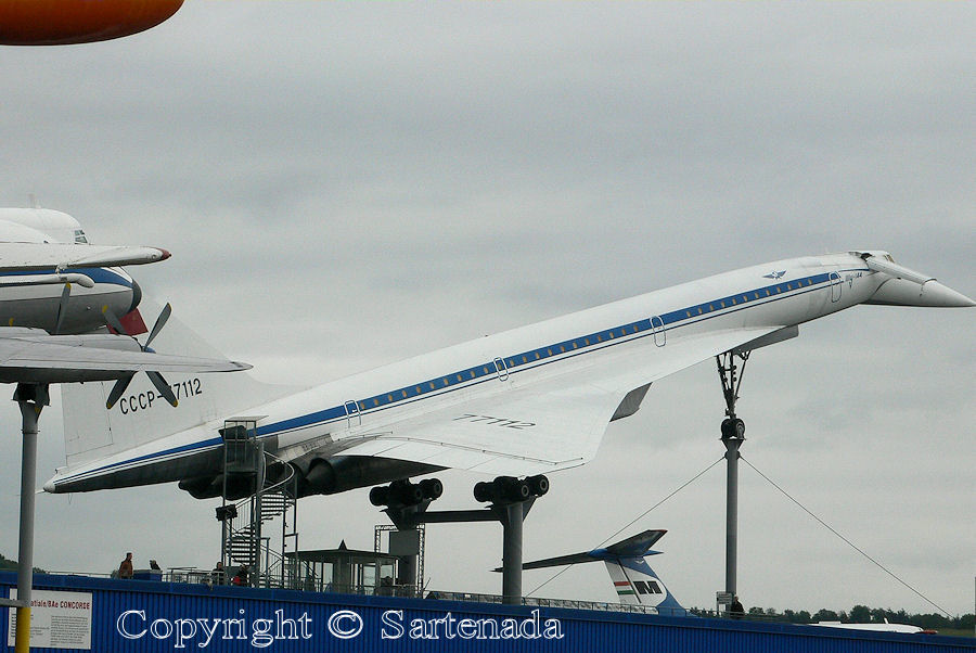 Russian supersonic TU-144 in Sinsheim in Germany