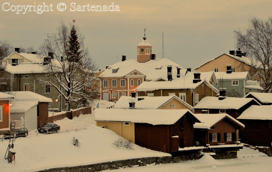 Wintry old Porvoo Finland