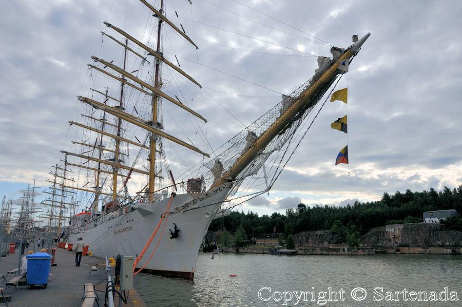 Tall ship race in Turku