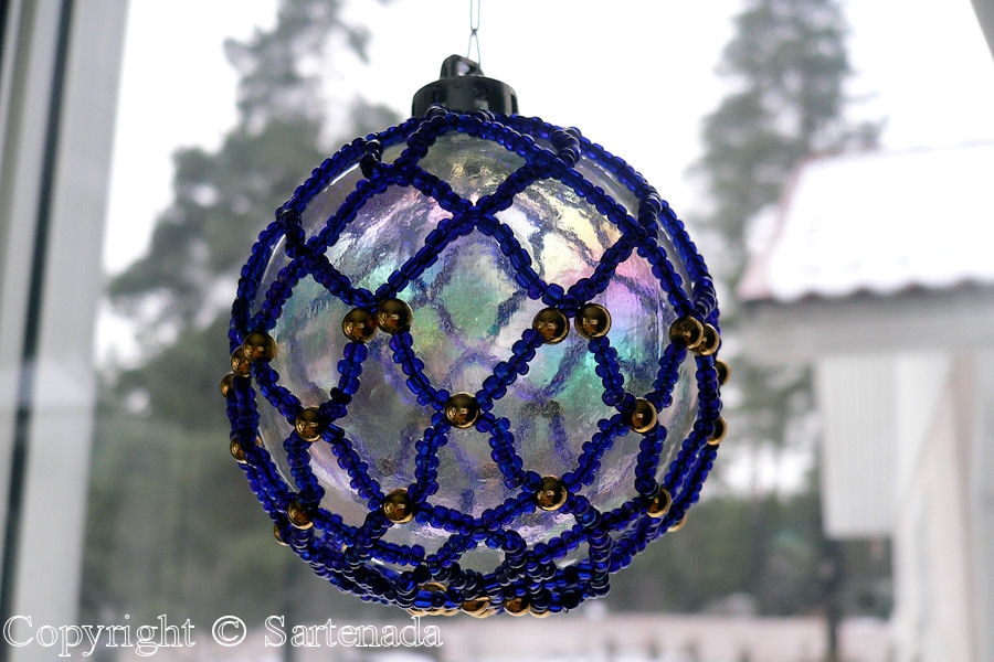 Christmas ball, one of the first ever made Bead