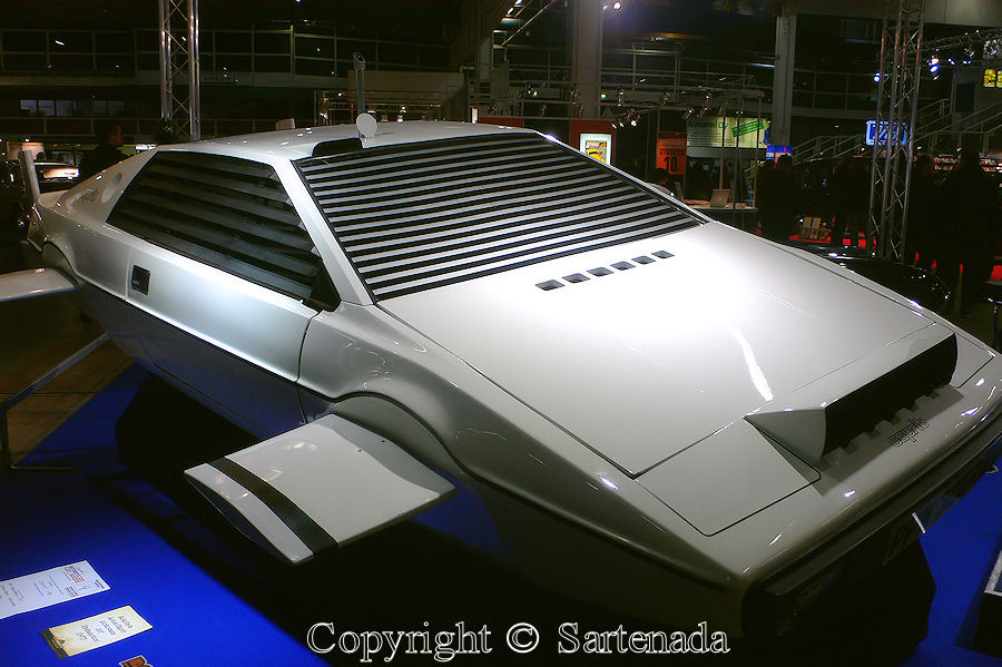 "James Bond's car Lotus Esprit from the movie ""The Spy Who Loved Me"""
