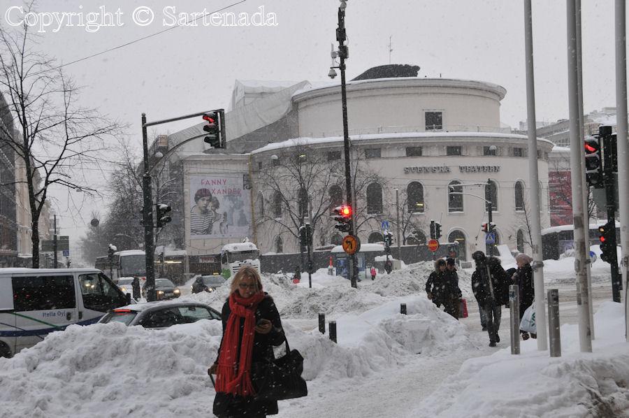 Helsinki covered by snow / Helsinki cubierto de nieve / Helsinki sous la neige