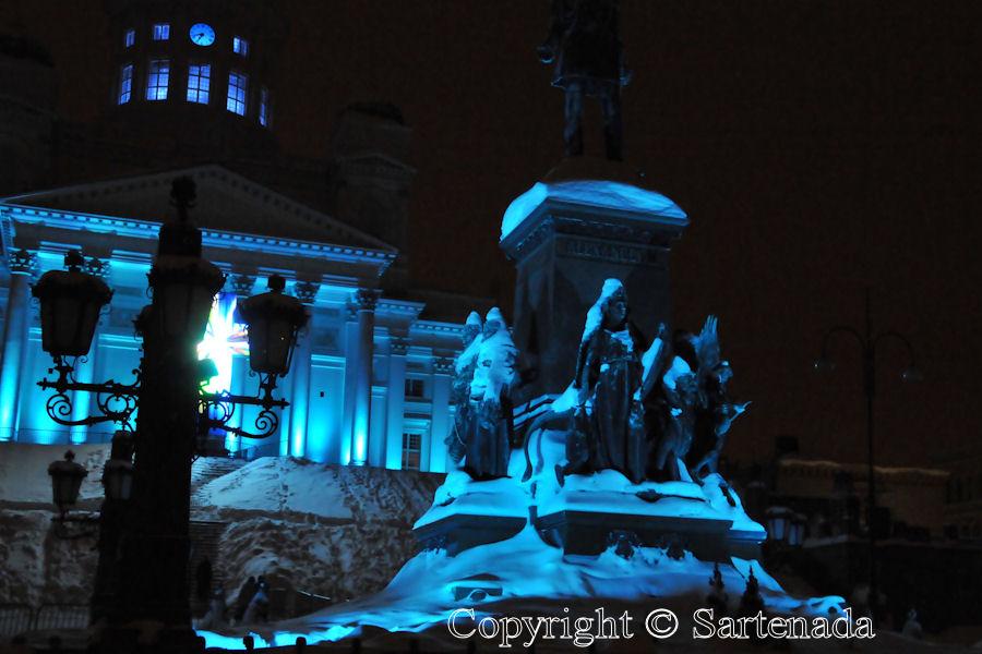 Helsinki light show / Helsinki espectáculo de luces / Helsinki spectacle son et lumière