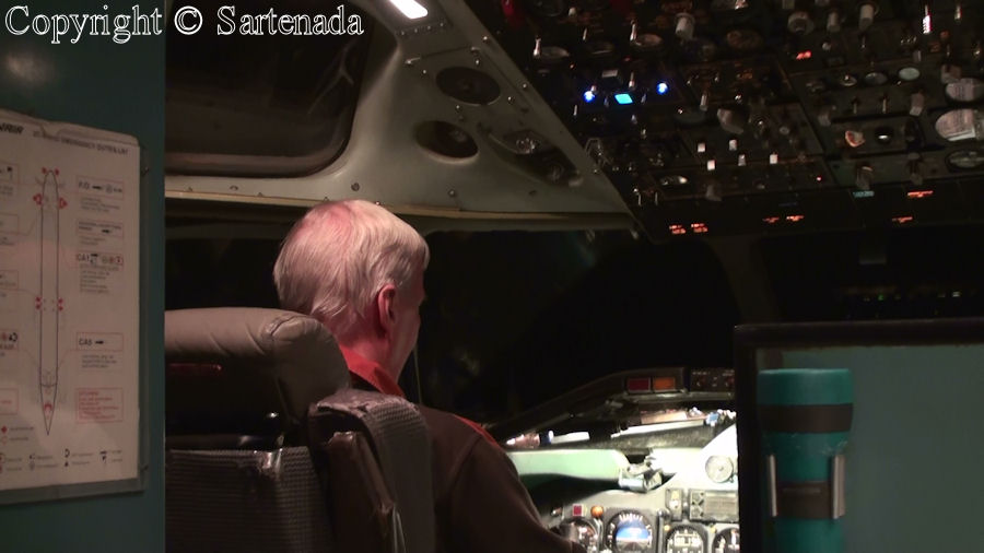 In the simulator of commercial airplane DC-9 at Helsinki-Vantaa airport
