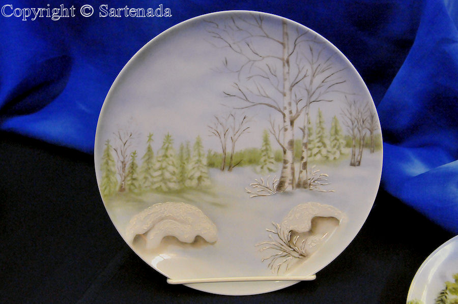 Porcelain paintings / Pinturas de porcelana / Peintures de porcelaine