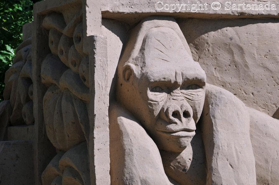Acting like apes / Actuando como monos / Agissant comme des singes