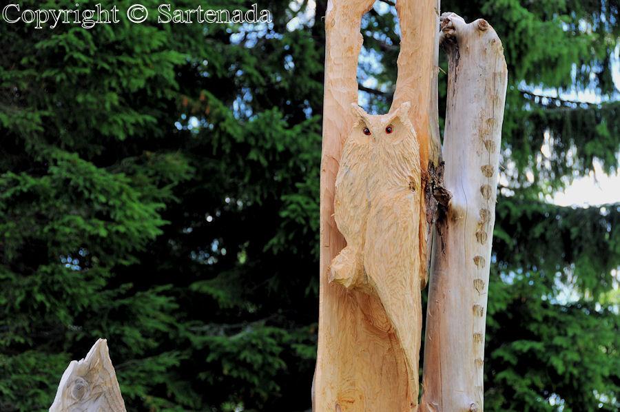Wooden outsider art / Arte marginal de madera / Art marginal en bois