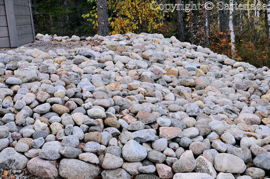 The master of the house loves stones for environment decoration