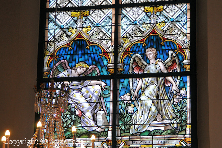 Loviisa - Stained glass windows in Finnish churches / Vitrales de iglesias finlandesas / Vitraux des églises finlandaises