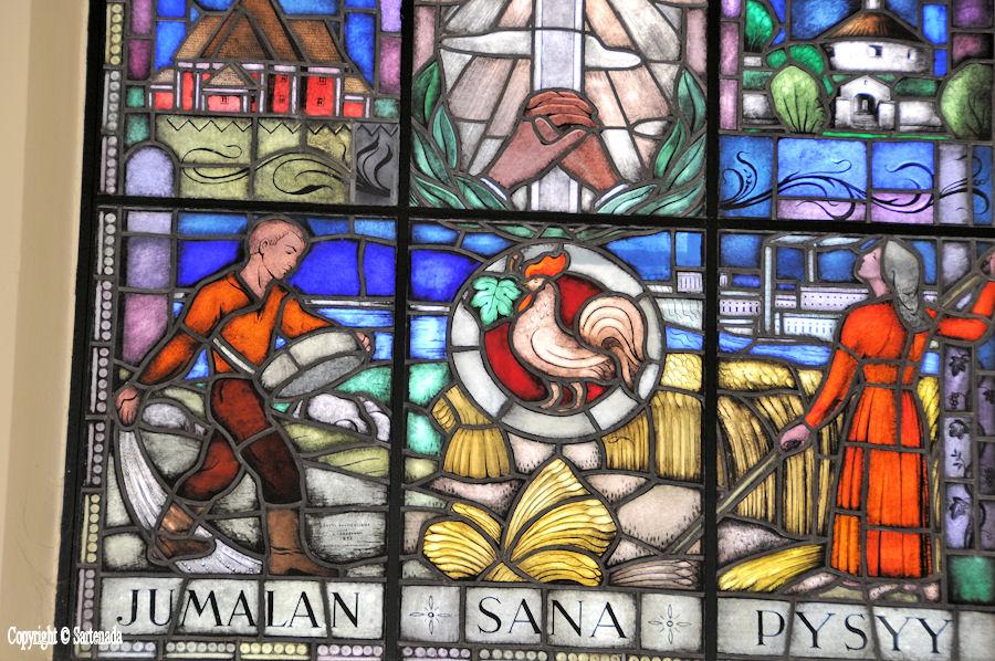 Mikkeli - Stained glass windows in Finnish churches / Vitrales de iglesias finlandesas / Vitraux des églises finlandaises