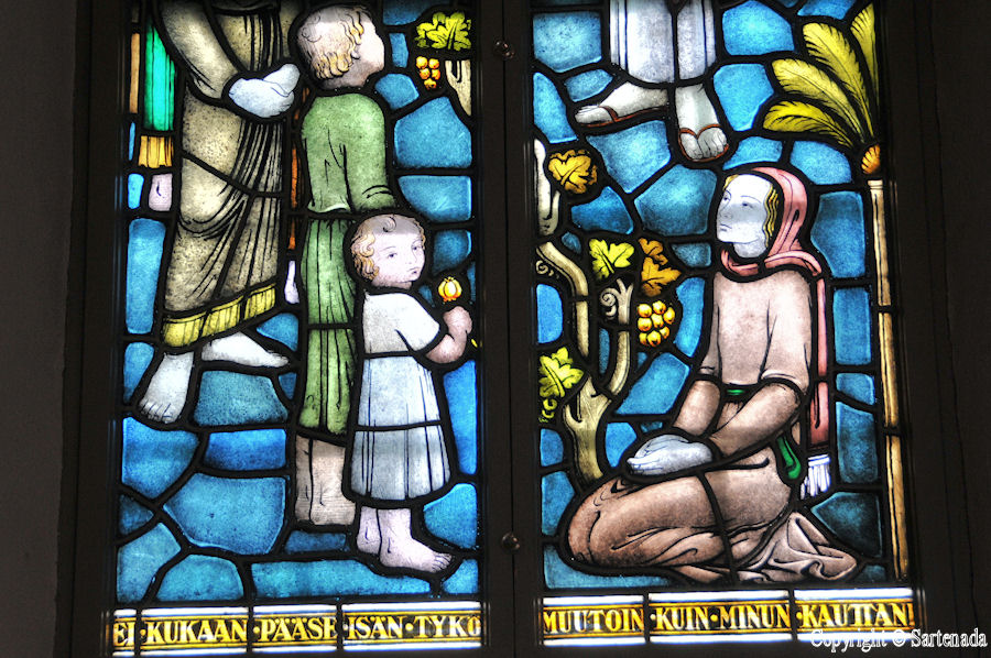 Noormarkku - Stained glass windows in Finnish churches / Vitrales de iglesias finlandesas / Vitraux des églises finlandaises