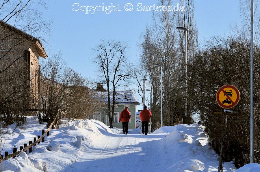 Old wooden houses in winter / Viejas casas de madera en invierno / Vieilles maisons en bois en hiver