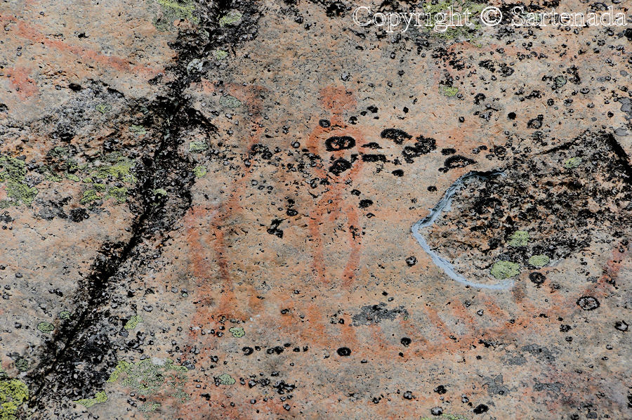Astuvansalmi rock paintings in Ristiina
