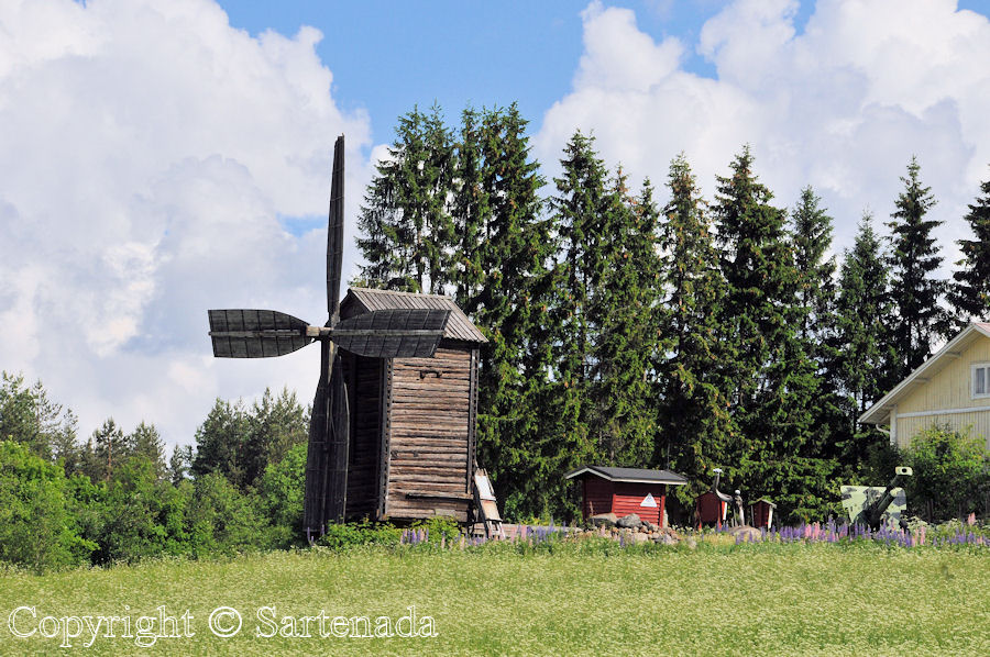 Traditional wind mill Virtasalmi