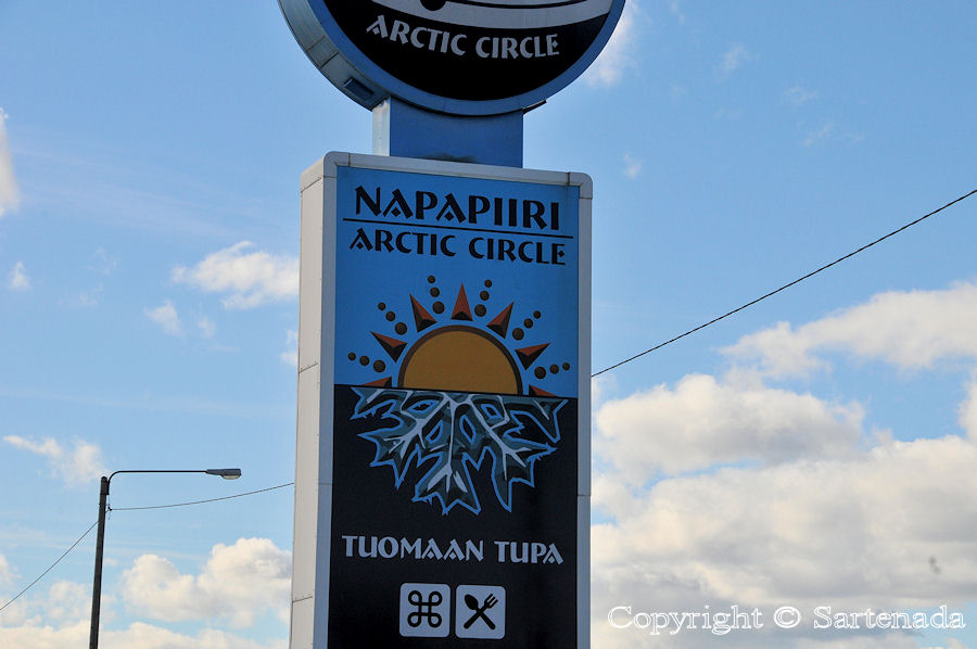 Arctic Circle at Tuomaan tupa; Lapland
