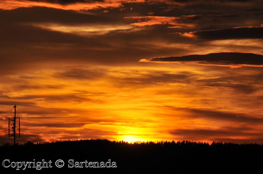 Sunset in Muonio, Lapland