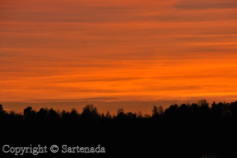 Sunset photos from our balcony / Fotos de Puesta del Sol desde nuestro balcón / Photos Couchers de soleil depuis notre balcon
