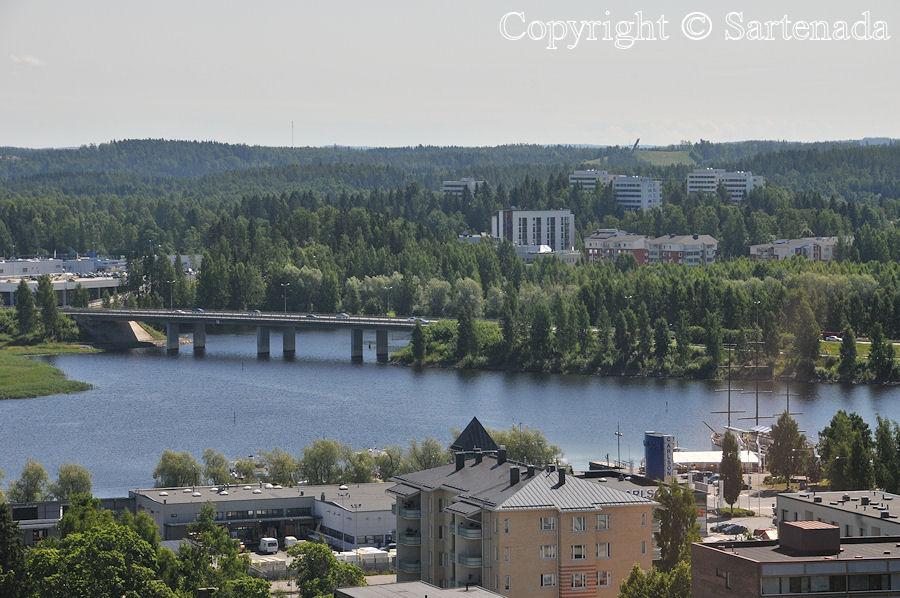 Views over Mikkeli / Vista panorámica sobre Mikkeli / Perspective aérienne de Mikkeli/ Visão panorâmica sobre o Mikkeli