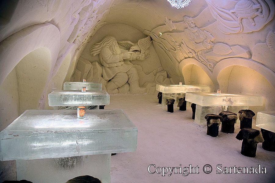 Snow Restaurant, Restaurante de nieve, restaurant de neige, restaurant de neve