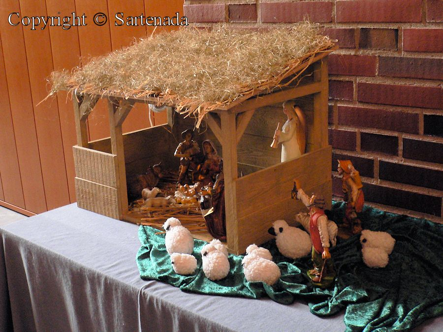 Nativity scene at Christmas Time