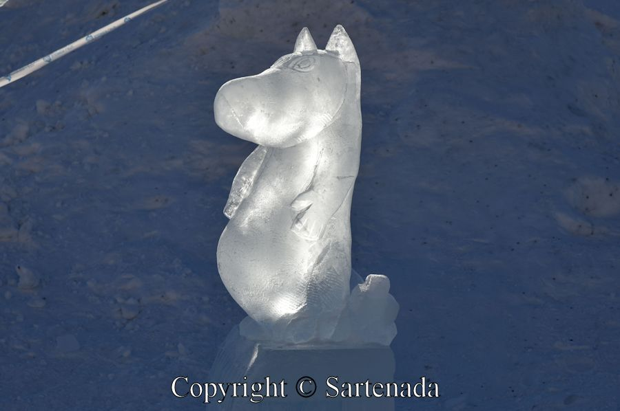 Moomin Ice Sculpture