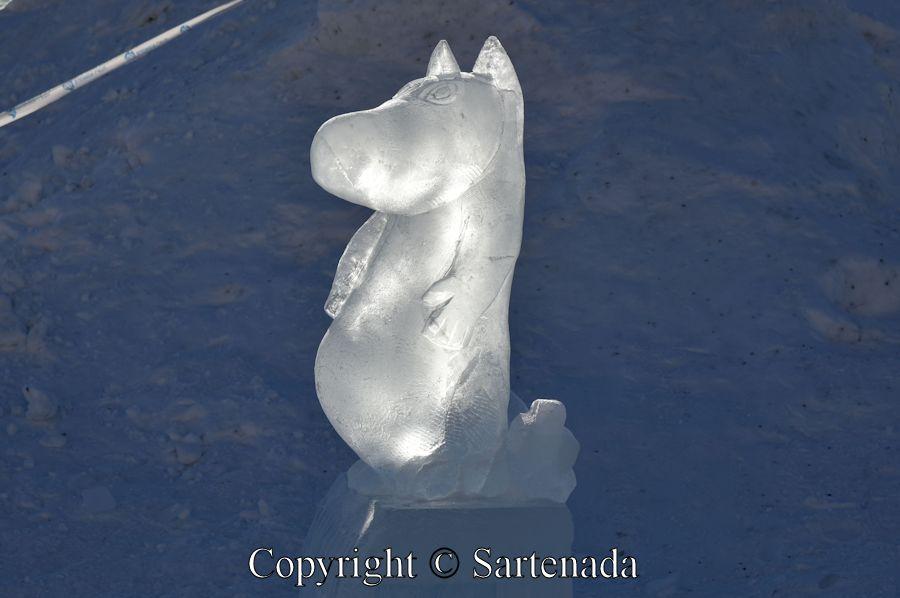 Moomin Ice Sculpture