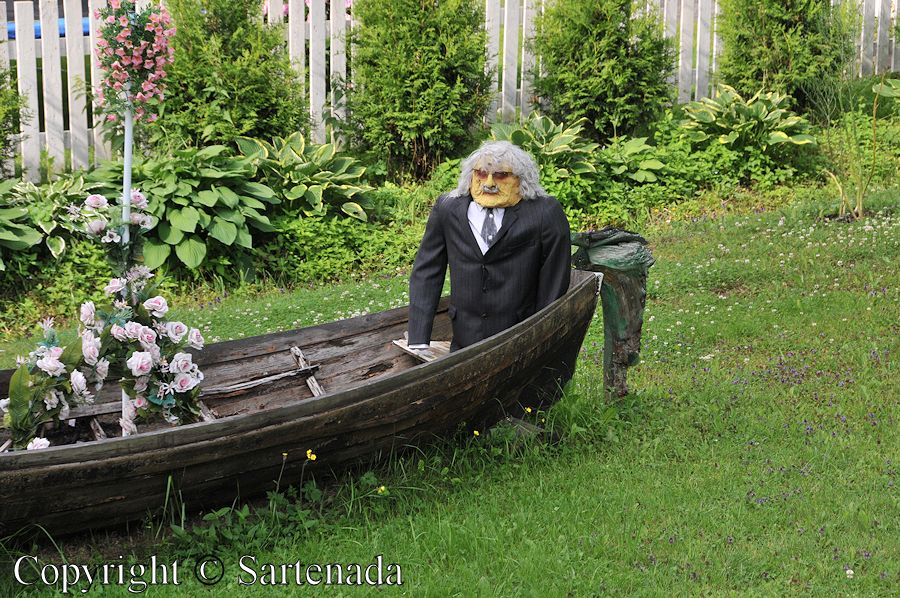 Old couple in a rowboat