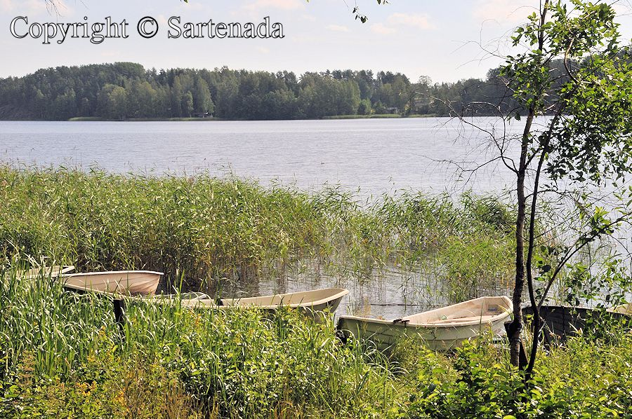 Rowboats on a shore in Mikkeli