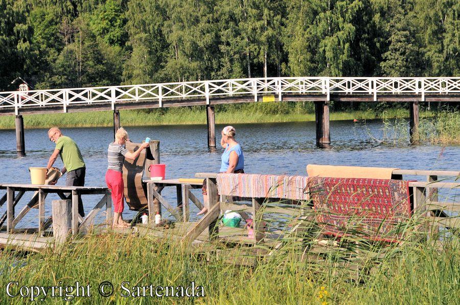 Traditional carpet washers in Mikkeli