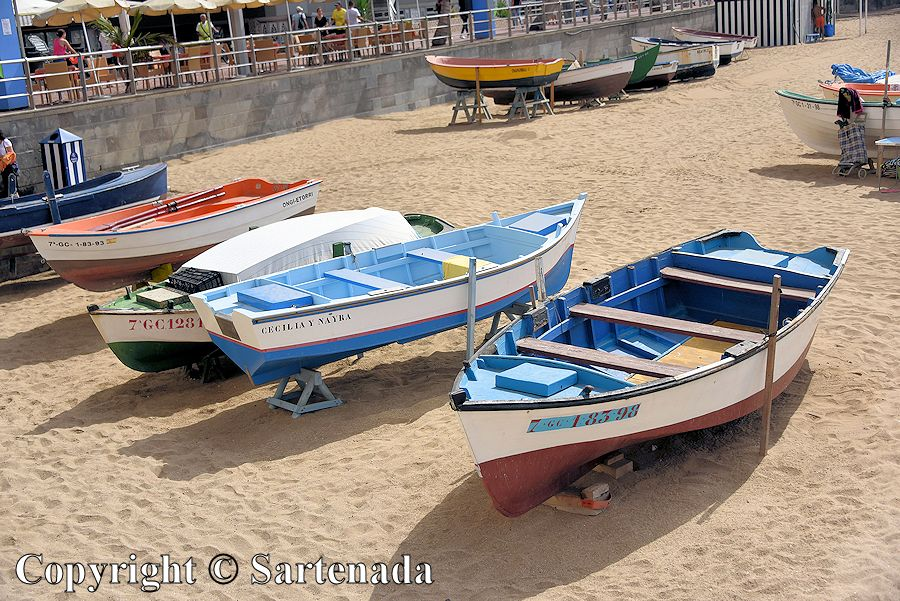 12. Boats on the beach Playa de Las Canteras
