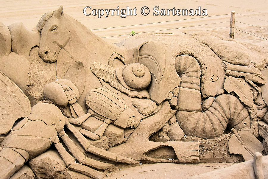 32. Sand sculptures
