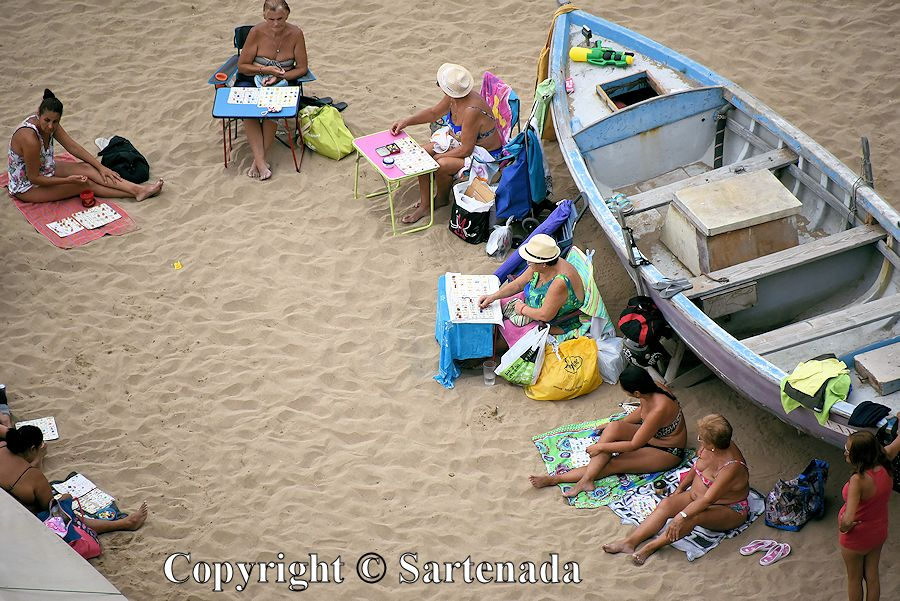 43. These people on Playa de Las Canteras,must have had fun. They were playing all the long day