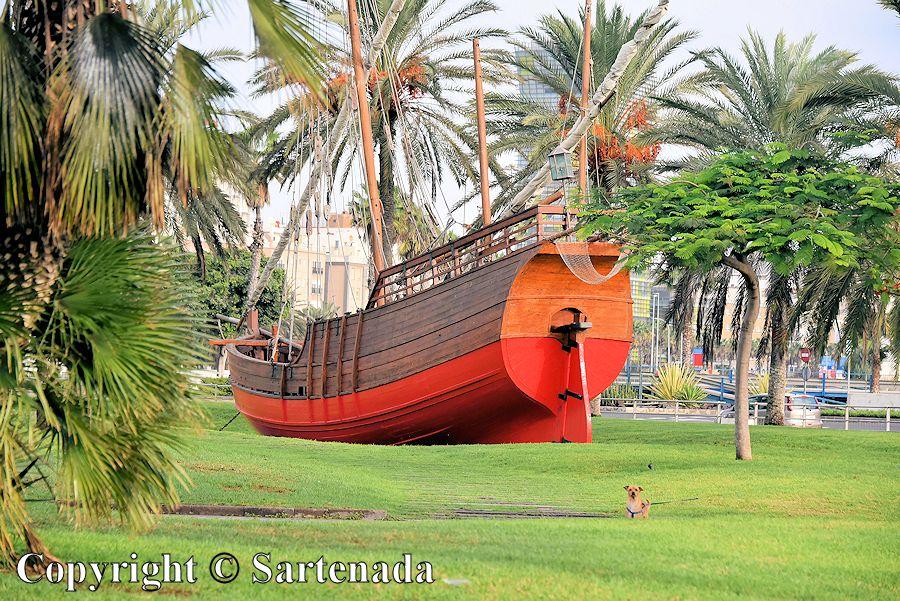 8. Columbus' ship model
