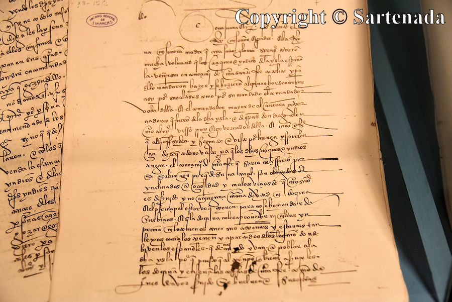 18. Example of Columbus's handwriting sample