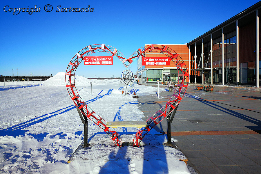 One foot in Sweden – the another in Finland