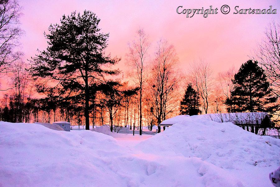 Sunset photos in Oulu
