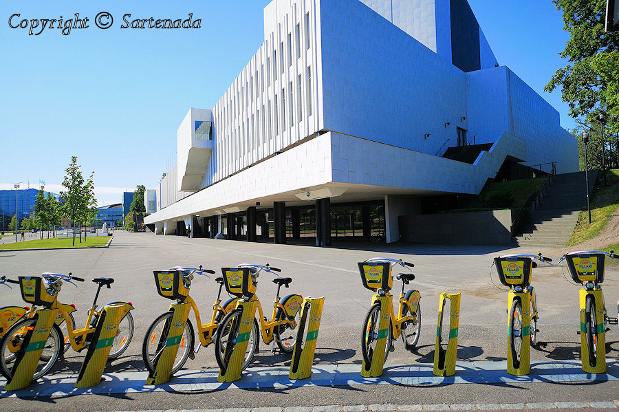 26.	Finlandia Hall and City Bikes